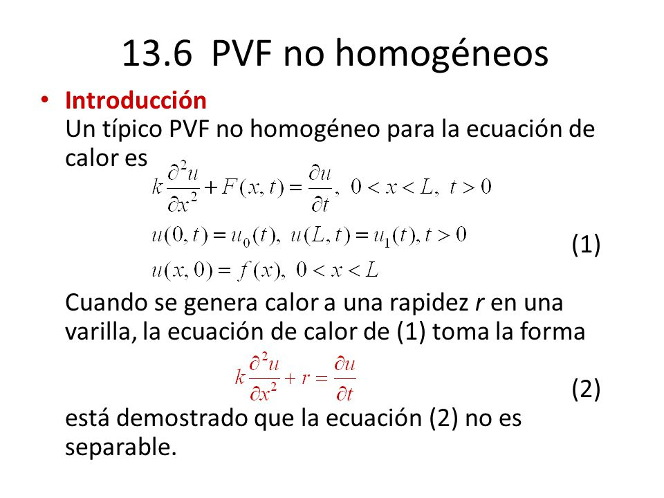 13.6 PVF no homogéneos