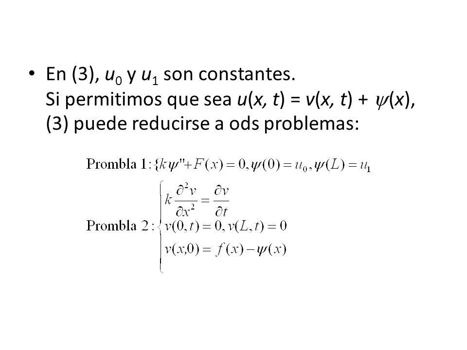 En (3), u0 y u1 son constantes