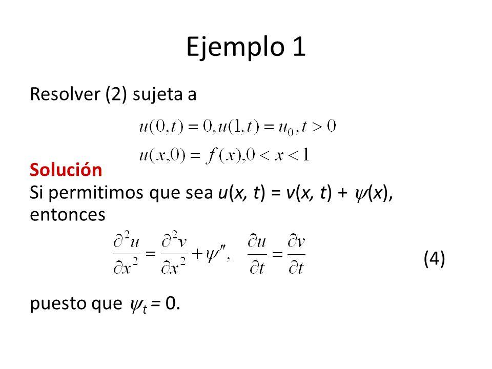 Ejemplo 1 Resolver (2) sujeta a