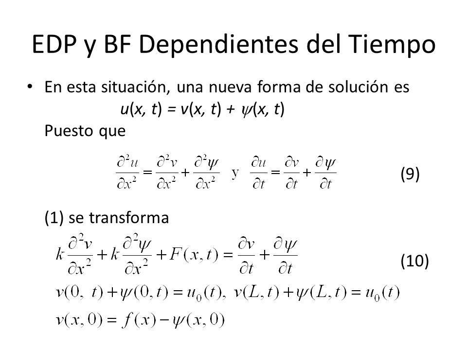 EDP y BF Dependientes del Tiempo