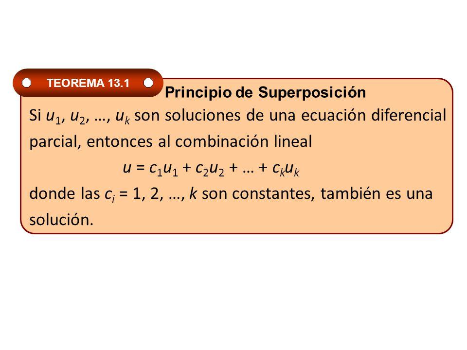 Si u1, u2, …, uk son soluciones de una ecuación diferencial