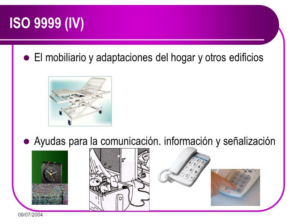 ISO 9999 (IV) El mobiliario y adaptaciones del hogar y otros edificios