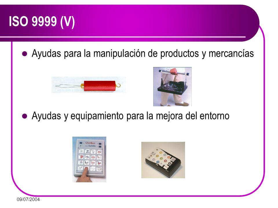ISO 9999 (V) Ayudas para la manipulación de productos y mercancías