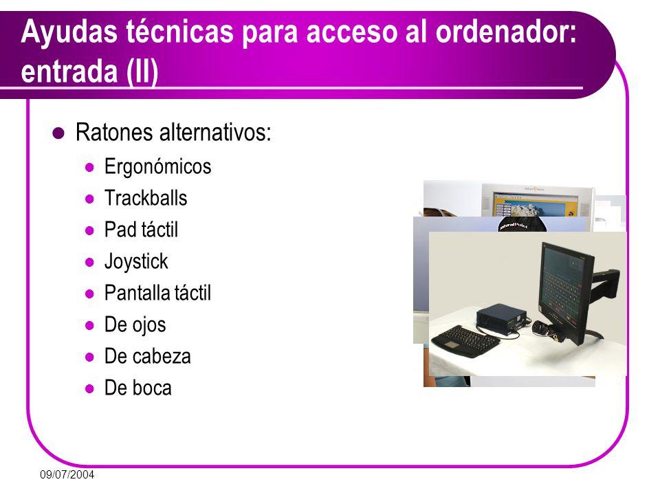 Ayudas técnicas para acceso al ordenador: entrada (II)