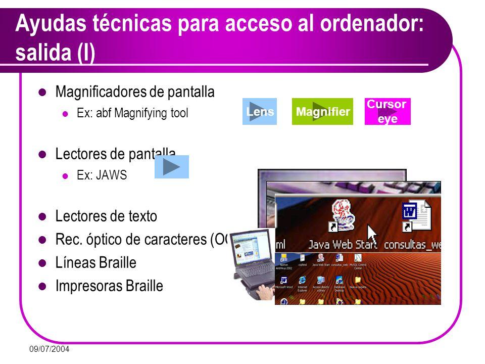 Ayudas técnicas para acceso al ordenador: salida (I)
