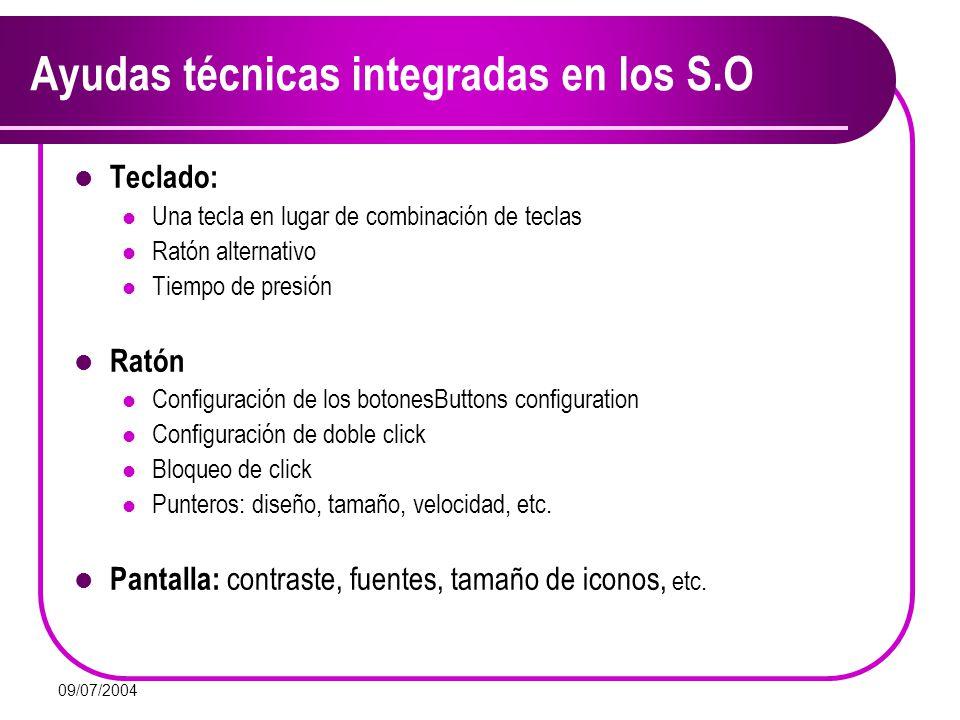Ayudas técnicas integradas en los S.O