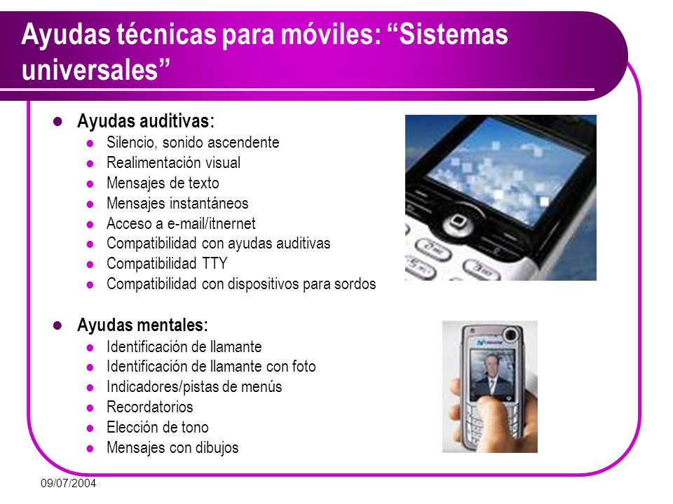 Ayudas técnicas para móviles: Sistemas universales