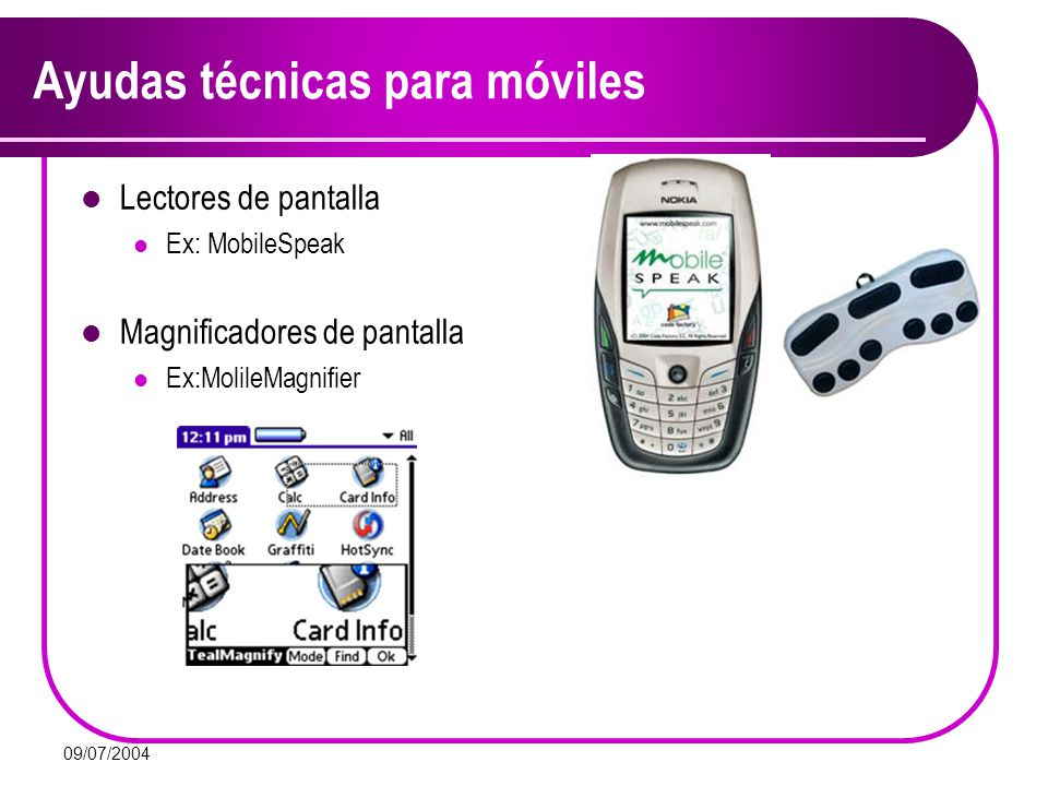 Ayudas técnicas para móviles