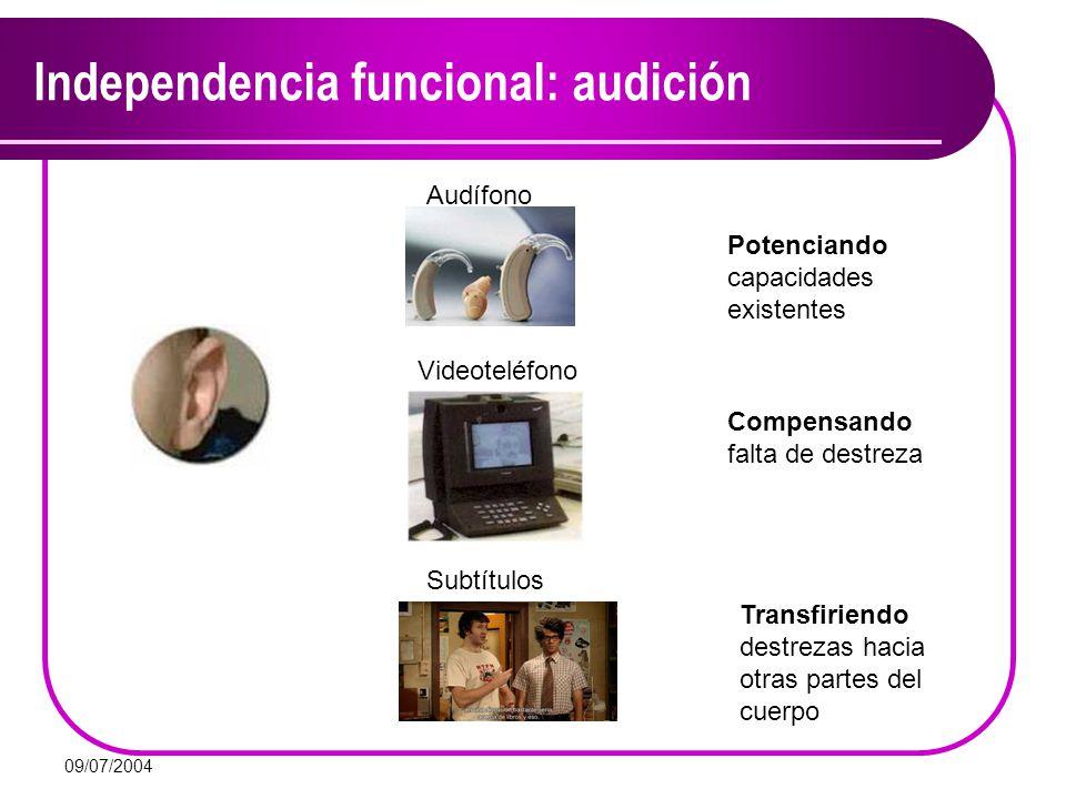 Independencia funcional: audición