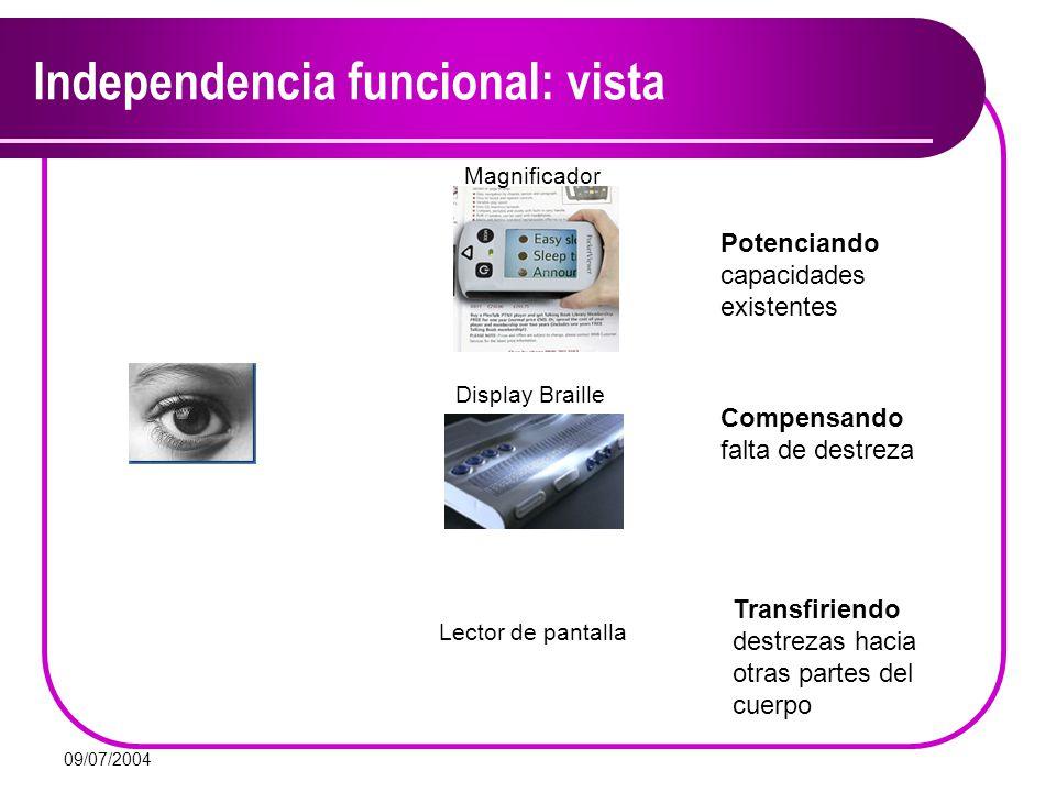 Independencia funcional: vista