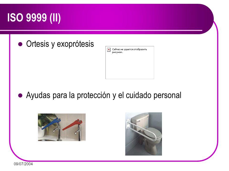 ISO 9999 (II) Ortesis y exoprótesis
