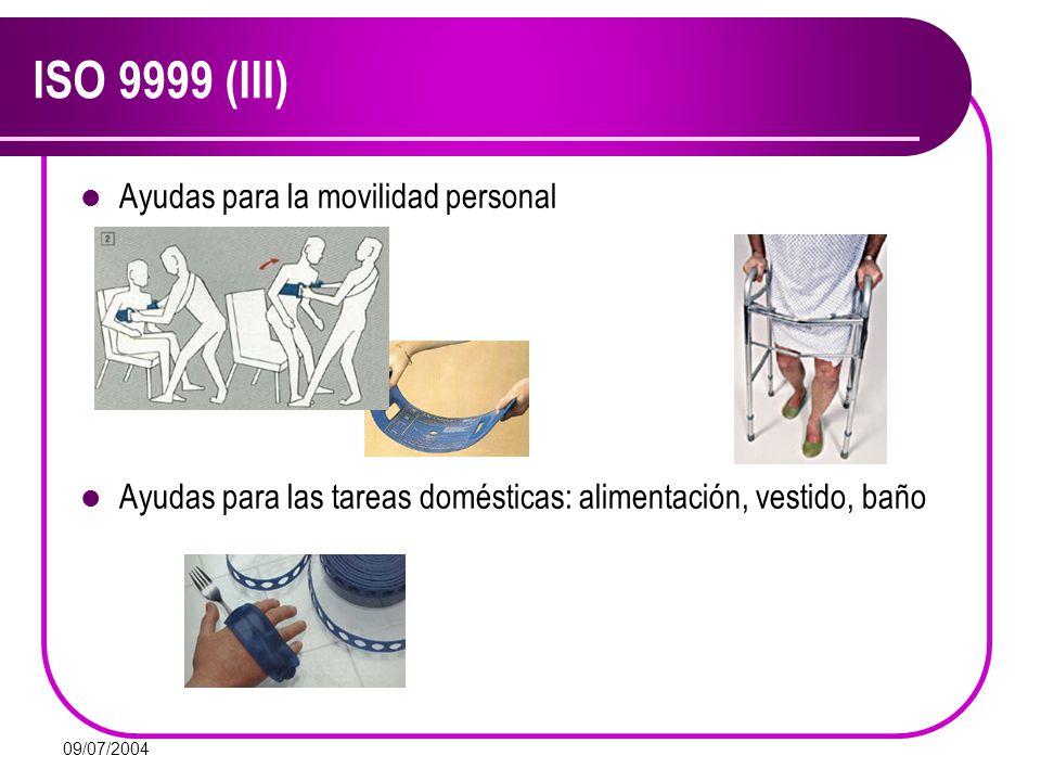 ISO 9999 (III) Ayudas para la movilidad personal