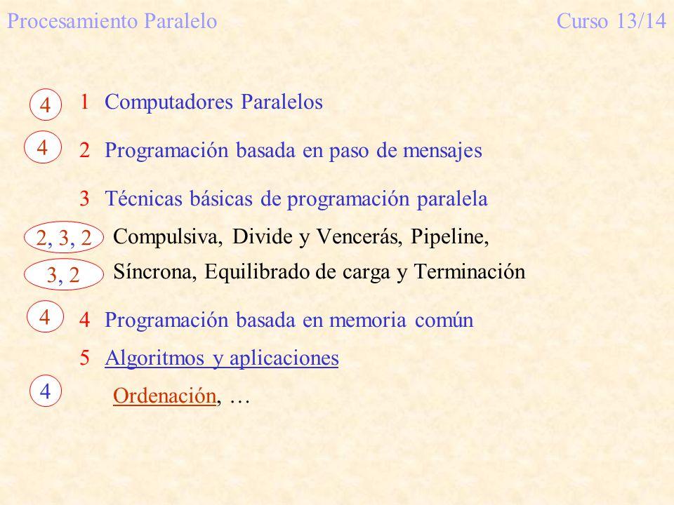 Procesamiento Paralelo Curso 13/14