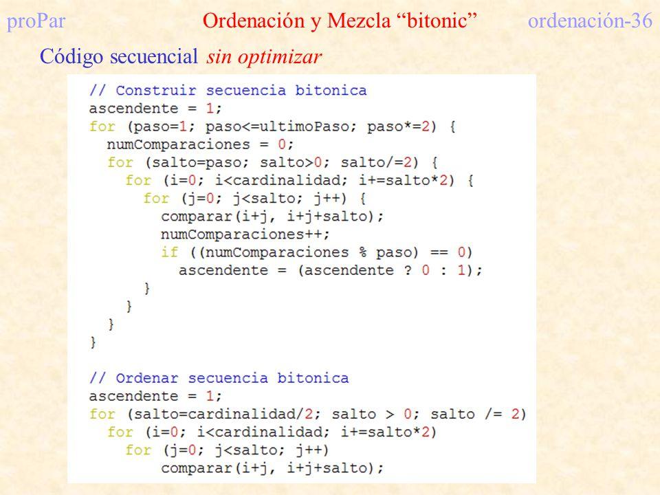proPar Ordenación y Mezcla bitonic ordenación-36