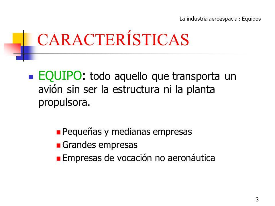 La industria aeroespacial: Equipos