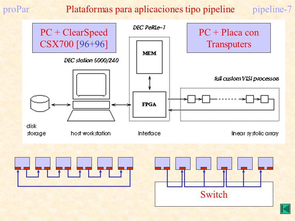 proPar Plataformas para aplicaciones tipo pipeline pipeline-7