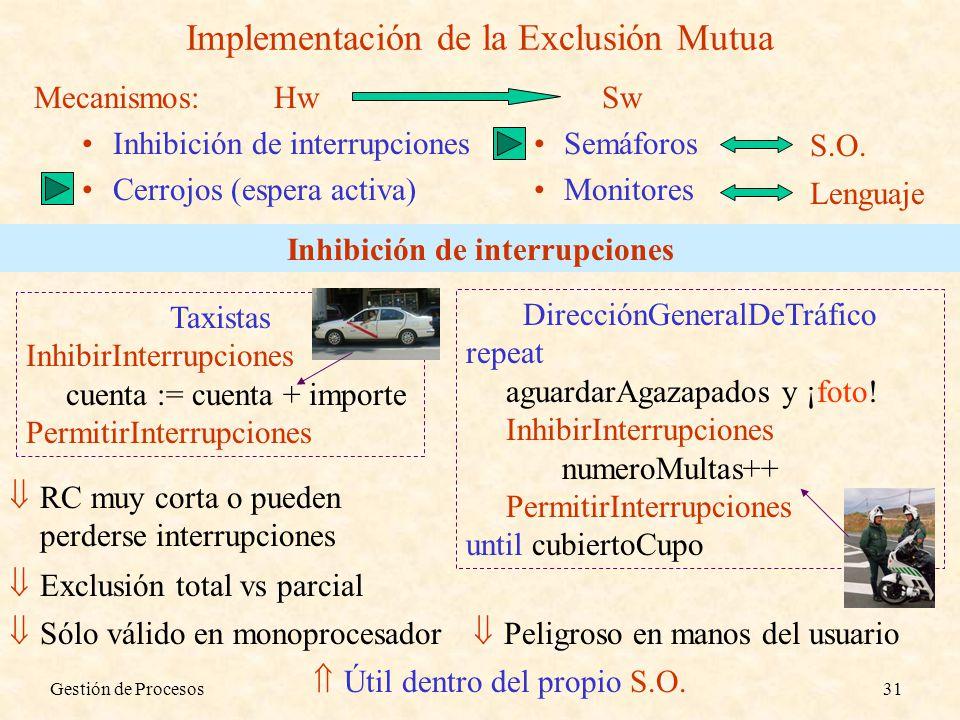 Implementación de la Exclusión Mutua