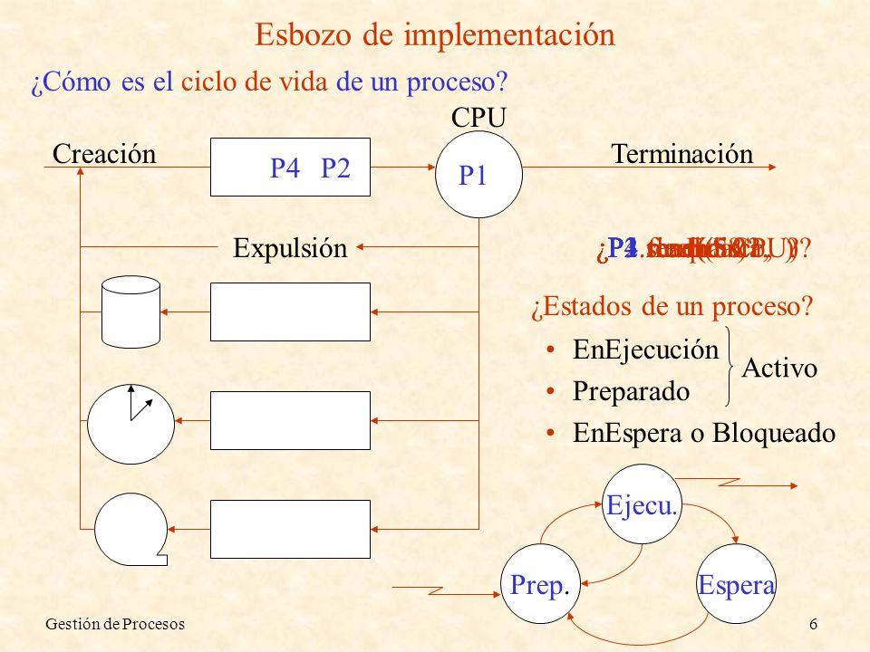 Esbozo de implementación
