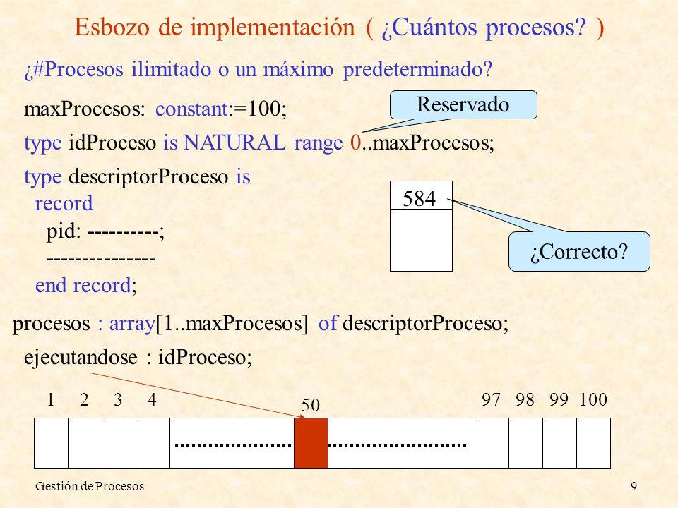 Esbozo de implementación ( ¿Cuántos procesos )