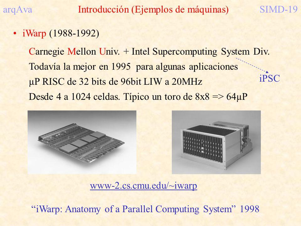 arqAva Introducción (Ejemplos de máquinas) SIMD-19