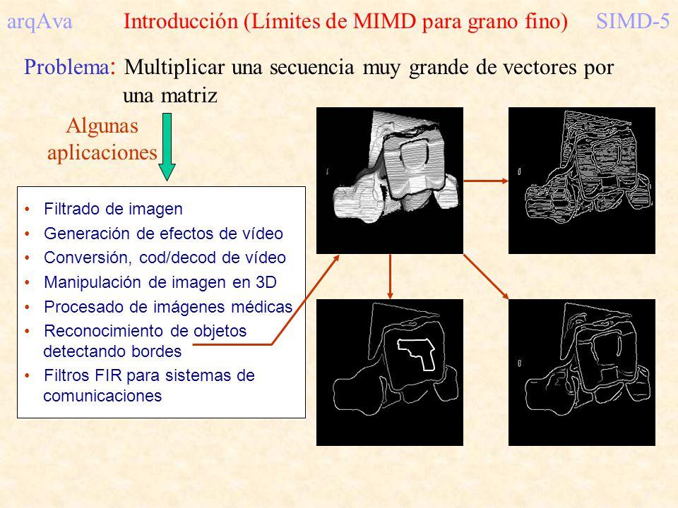 arqAva Introducción (Límites de MIMD para grano fino) SIMD-5