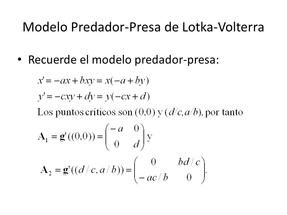 Modelo Predador-Presa de Lotka-Volterra