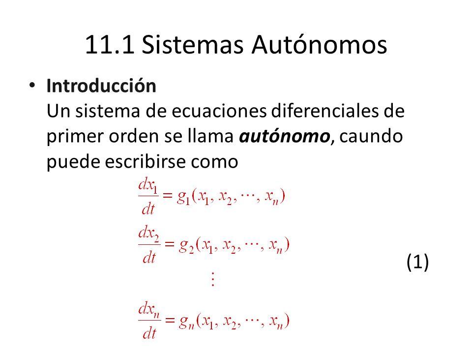 11.1 Sistemas Autónomos