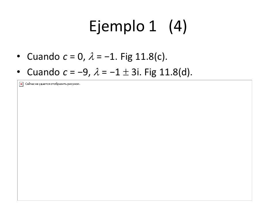 Ejemplo 1 (4) Cuando c = 0,  = −1. Fig 11.8(c).