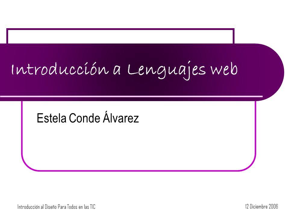 Introducción a Lenguajes web