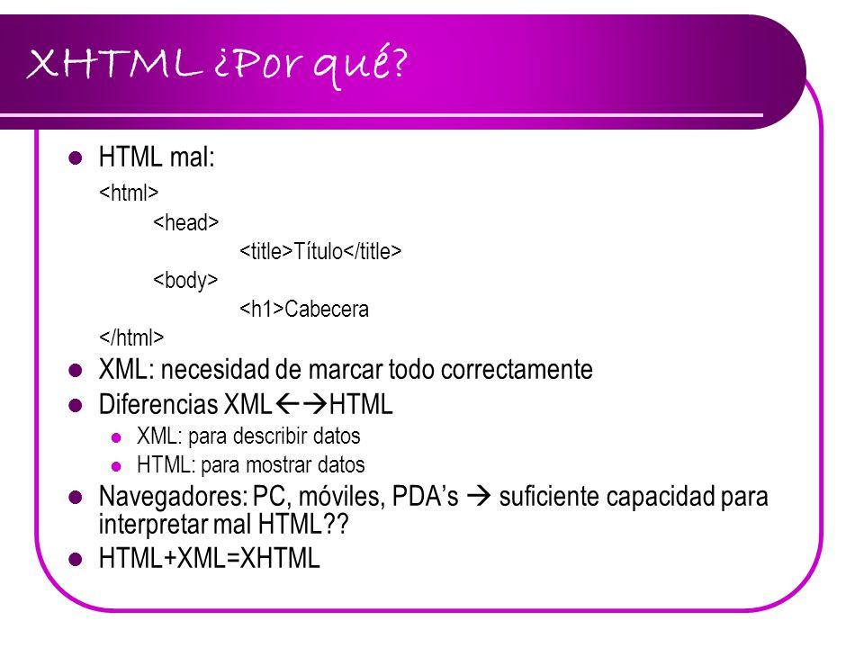 XHTML ¿Por qué HTML mal: <html>