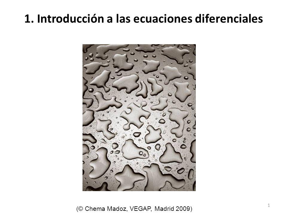 1. Introducción a las ecuaciones diferenciales