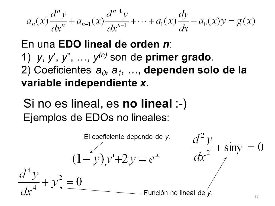 Si no es lineal, es no lineal :-)