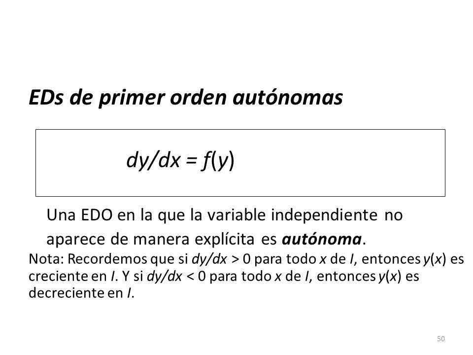 EDs de primer orden autónomas
