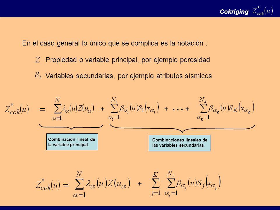 + En el caso general lo único que se complica es la notación :