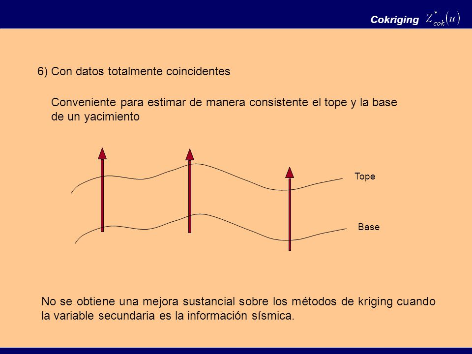 6) Con datos totalmente coincidentes