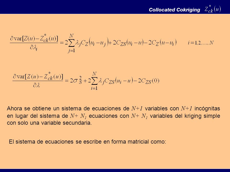 El sistema de ecuaciones se escribe en forma matricial como: