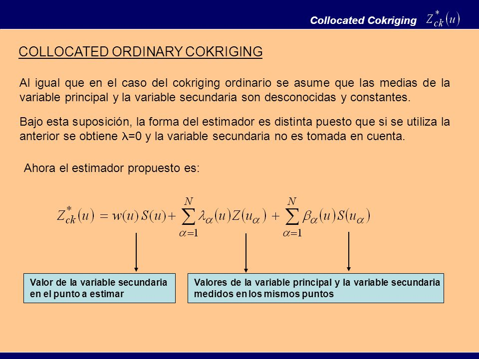 COLLOCATED ORDINARY COKRIGING