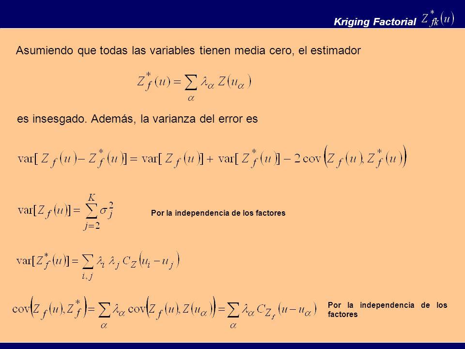 Asumiendo que todas las variables tienen media cero, el estimador
