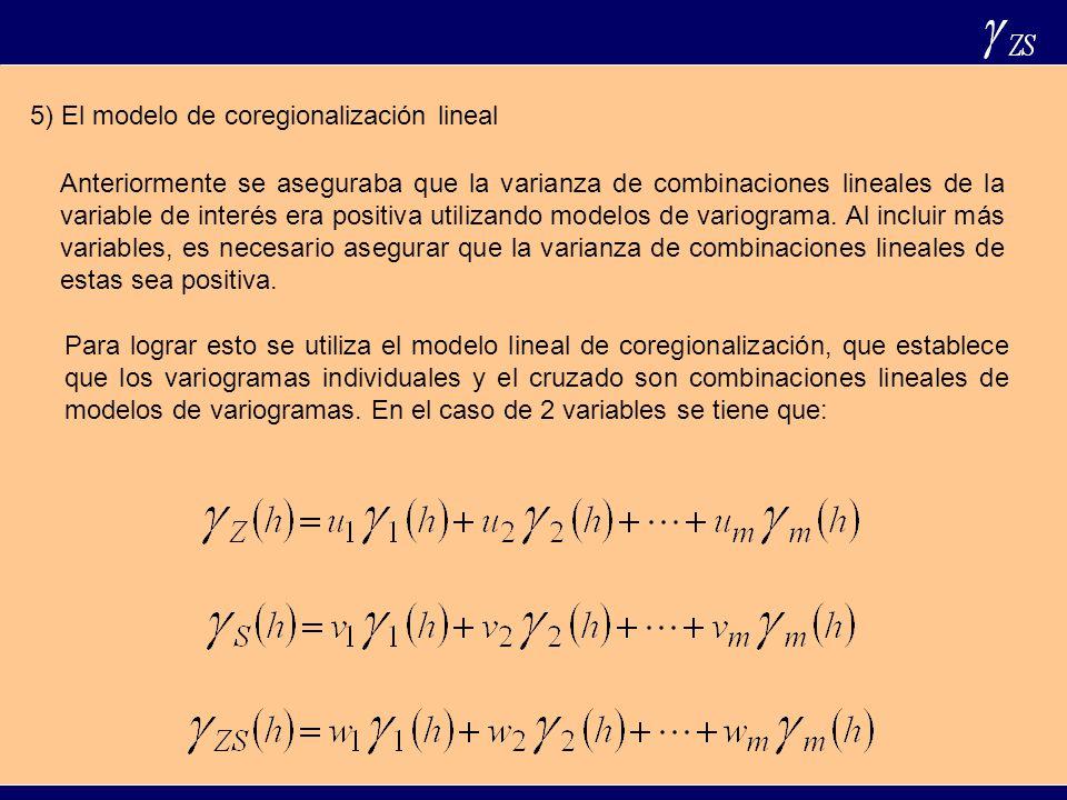 5) El modelo de coregionalización lineal