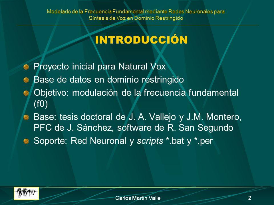 INTRODUCCIÓN Proyecto inicial para Natural Vox