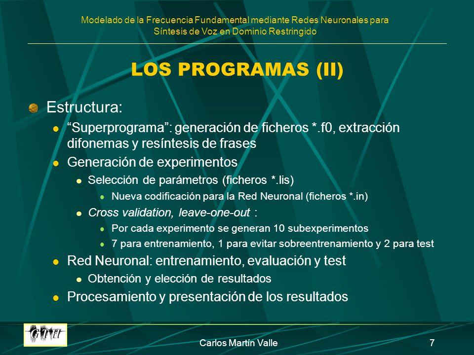 LOS PROGRAMAS (II) Estructura: