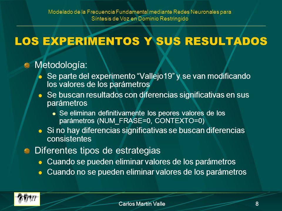 LOS EXPERIMENTOS Y SUS RESULTADOS