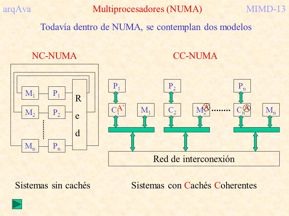 arqAva Multiprocesadores (NUMA) MIMD-13