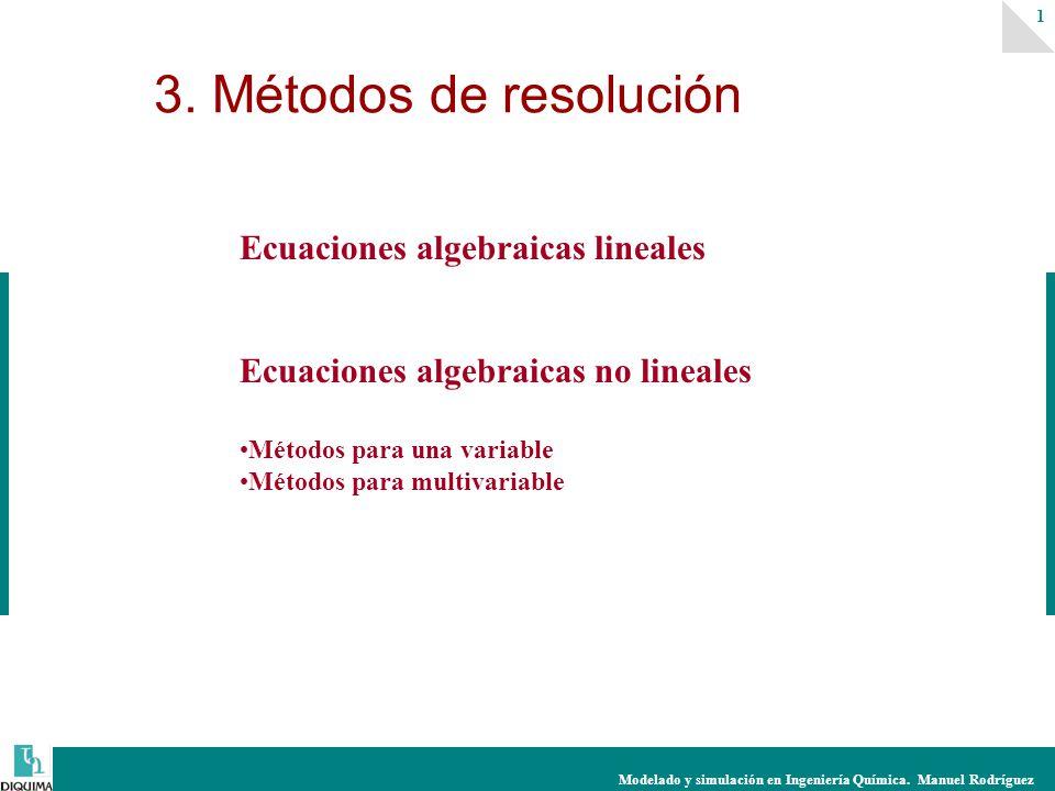 3. Métodos de resolución Ecuaciones algebraicas lineales