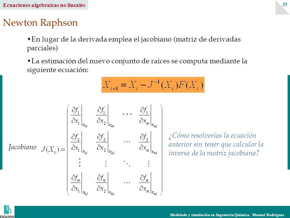 Ecuaciones algebraicas no lineales