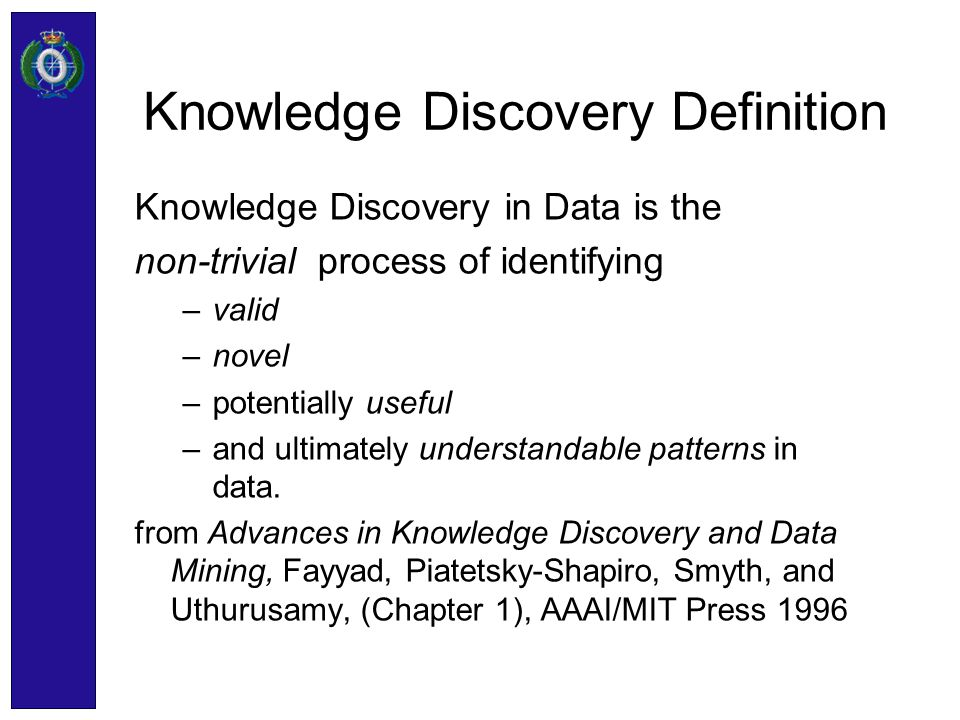 Knowledge Discovery Definition
