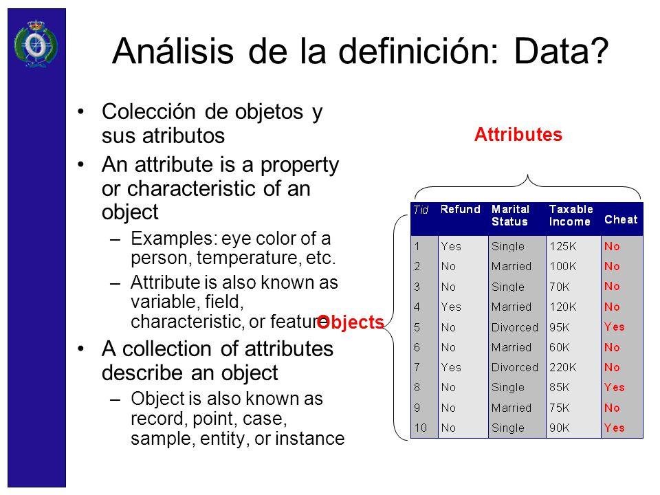 Análisis de la definición: Data
