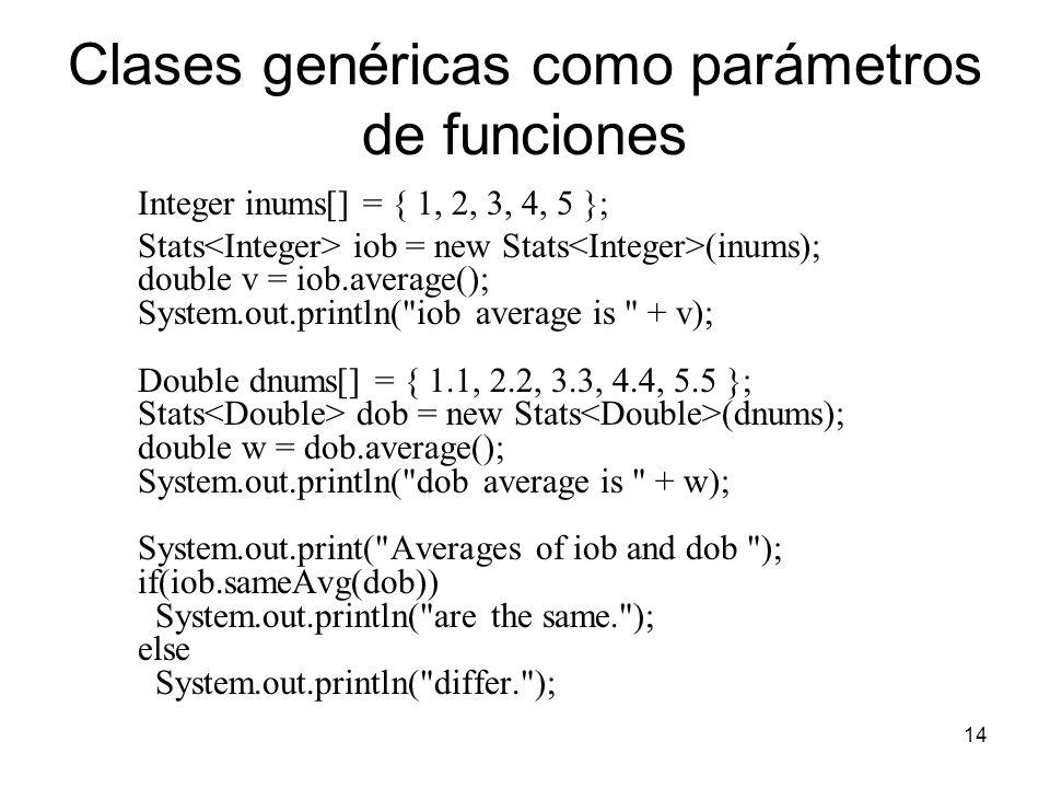 Clases genéricas como parámetros de funciones