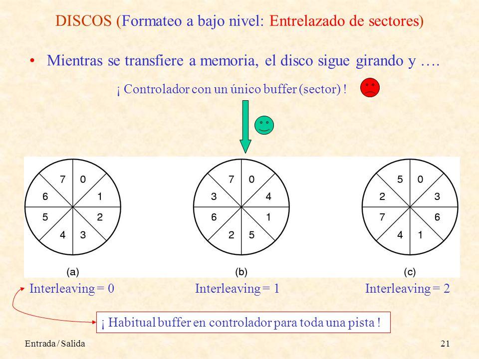DISCOS (Formateo a bajo nivel: Entrelazado de sectores)