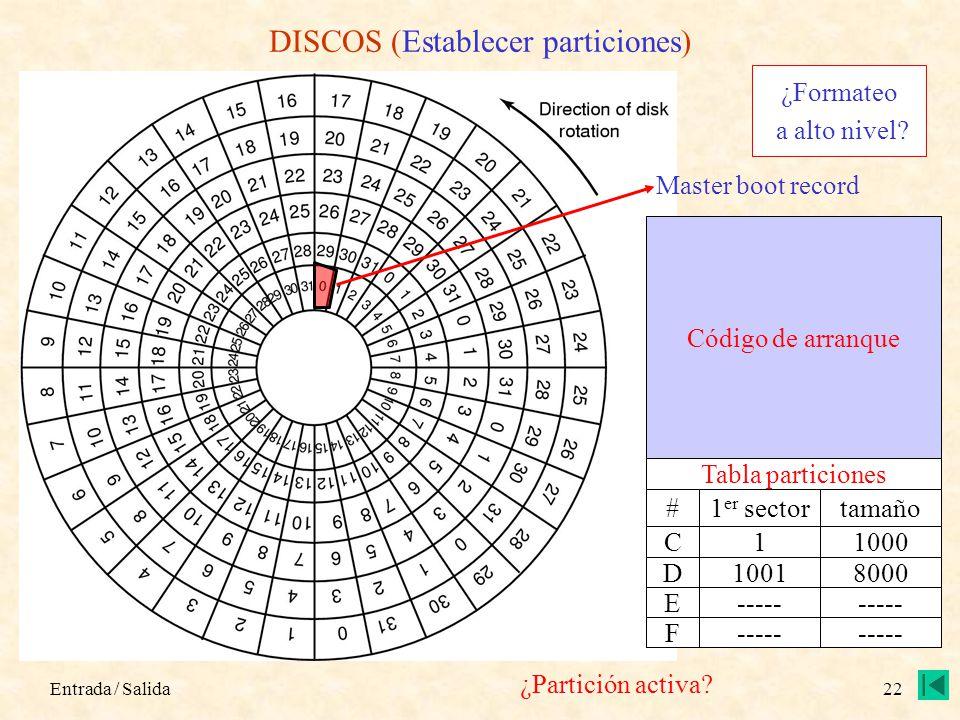 DISCOS (Establecer particiones)